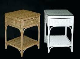 white wicker side table wicker side table yannickmyrtil com