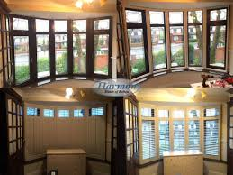 big bay window with shutters harmony blinds of bolton and chorley