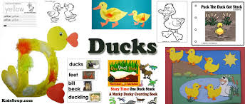ducks crafts activities lessons games and printables kidssoup