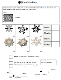 classroom magic snowflake mean median mode and range