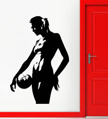 popular sports wall stickers buy cheap sports wall stickers lots 2016 fashion sport volleyball vinyl decal silhouette sexy girl sports wall stickers free shipping china