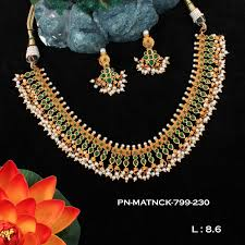 emerald necklace sets images Matt finish koorgi designer emerald necklace set fb55 griiham jpg