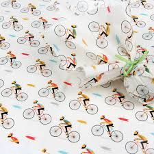 bicycle wrapping paper le bicycle tissue paper 10 sheets rex london dotcomgiftshop