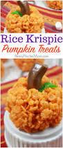 rice krispie pumpkin treats fun snack idea for halloween