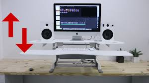 Make A Standing Desk by Make Any Desk Into A Standing Desk Youtube