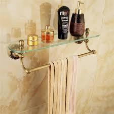 bathroom bathroom glass towel shelves modern double sink