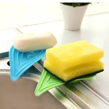 Kitchen Soap Dish Sponge Holder by 1 Pc Leaf Type Holder Kitchen Sink Sponge Holder Sliding Ring