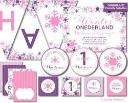 winter onederland birthday party printable collection 1st
