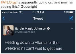 Magic Johnson Meme - magic johnson tweet atlorgy know your meme