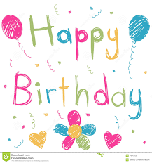 happy birthday card stock vector image of decoration 24847158