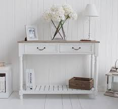 White Hallway Table The Provence White Console Table As Furniture Or Living Room