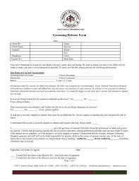 Veterinary Clinic Idaho Veterinary Internal Grooming Consent Form Ammon Veterinary Hospital