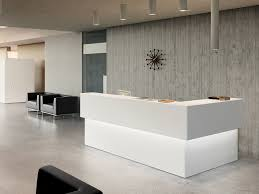best curve shape for modern reception desk plus transparent