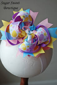 easter hair bows easter boutique hair bows