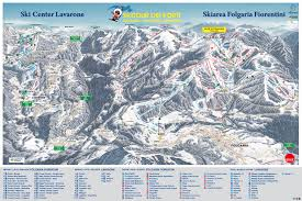 Piste Maps For Italian Ski by Folgaria Map Winter Sports Com