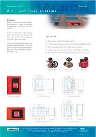 Dry Riser Cabinet Dry U0026 Wet Riser Systems Macron Safety Systems Pdf Catalogue