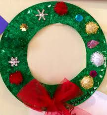 christmas craft paper plate wreath best photos of easy christmas