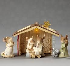 Home Interiors Nativity Set Amazon Com 2017 Enesco Heart Of Christmas Mice Nativity 6 Piece
