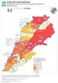 Map Of Al Document Unhcr Health Lebanon Map Of Distribution Of