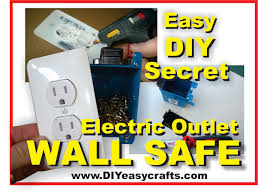 Cool Wall Receptacle How To Make A Easy Diy Secret Hidden Electric Outlet Wall Safe