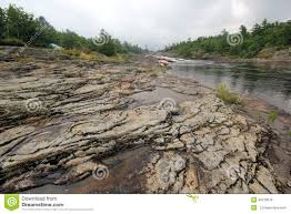 exposed rock river landscape stock photo image 48126678