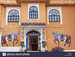 historical wall murals stock photos historical wall murals stock flamboyant murals typical of traditional rajasthani wall painting characterize this entrance to the historic palace