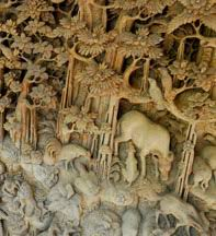 woodcarving in bali indonesia