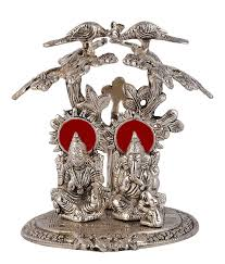 buy international gift silver plated laxmi ganesha tree god idols