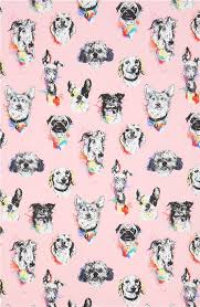 pink henry fabric bow wow wow animal