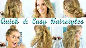 quick and easy hairstyles for running running late 3 quick easy hairstyles for short medium length