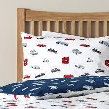 bertie cars bed linen set feather u0026 black