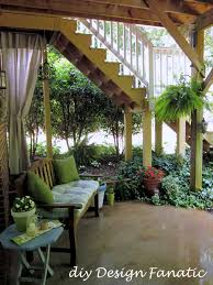 one day a deck off our bedroom and this on the patio beneath