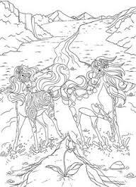 coloriage chevaux amoureux dans bella sara coloriage
