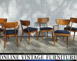 Mid Century Dining Table And Chairs Mid Century Chair Etsy