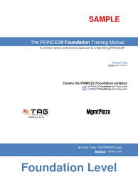 the prince2 foundation training manual 2009 sample projects