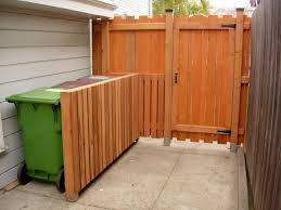 fencing to hide trash cans google search backyard updates