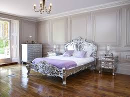 silver leaf french italian rococo bed king size shabby chic louis