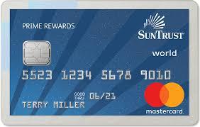 prime rewards no fee credit card suntrust personal banking