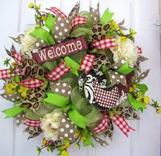 welcome rooster spring summer mothers day kitchen wall door home