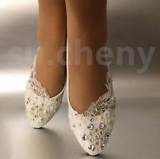 wedding shoes size 12 ivory wedding flats ebay