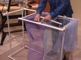 Laundry Divider Hamper by How To Build A Pvc Laundry Rack How Tos Diy
