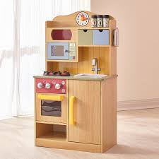 amazon com teamson kids little chef wooden toy play kitchen