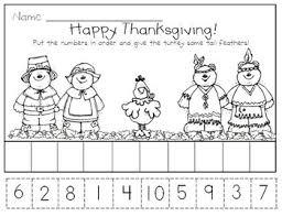 thanksgiving literacy and math activities for kindergarten by kd
