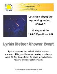 bureau meteor lyrids meteor shower event lake havasu city