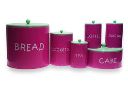 pink canisters kitchen colorful kitchen purple tea coffee sugar bread box and canister