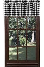 Elasticated Valance Buffalo Check Fabric In Black And Cream Available By The Yard At
