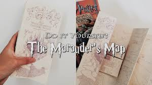 Harry Potter Map Harry Potter Diy The Marauder U0027s Map W The Flaps Youtube