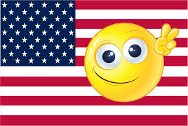 American Flag Magnet 6in X 4in Emoji American Flag Sticker Vinyl Car Patriotic Decal