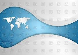 Free Vector World Map by World Map On Blue Wave Tech Background Vector Image 45920