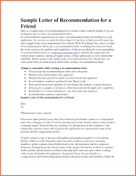 letter of recommendation for friend bio example